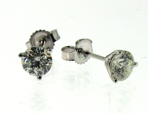 Yellow Gold Plated Silver Prism Jewel 0.29 Carat Round Black Diamond With G-H//I1 Natural Diamond Cluster Style Screw Back Earrings